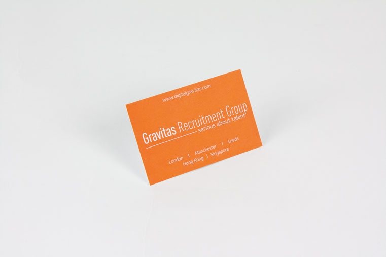 Business stationery cascade group london printing design one colour indigo printed business card reheart Gallery