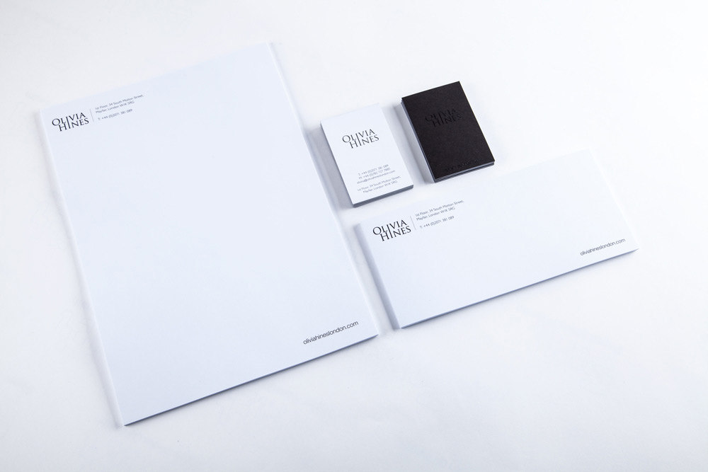 Business stationery cascade group london printing design one colour litho printing with black thermo on back of business cards reheart Gallery